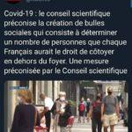 Conseil Scientifique bulles sociales covid